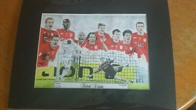 Liverpool F.c. - Signed Limited Edition Print Uefa Champions League Final 2005