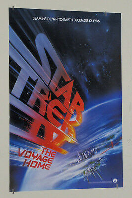 "1986 Star Trek IV Voyage Home 20 x 13 1/2"" movie poster: Printer's error version"