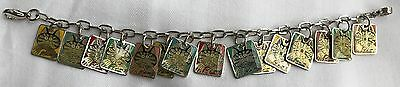 Kliban Cat Charm Bracelet 7.5 Unused Very Rare 15 Cat Enamel Charms Discontinued
