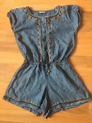Next Blue Denim Look Shorts All In One Age 10 Yrs Excellent Condition