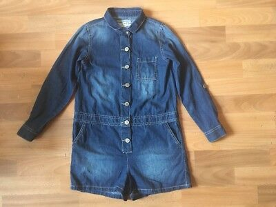 Next Blue Distressed Denim Look Shorts All In One Age 9 Yrs Excellent Condition
