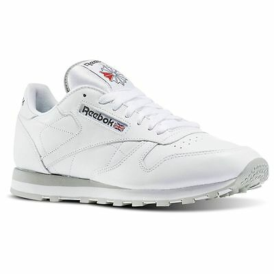 Reebok Mens Classic Leather 2214 Trainers Sports Gym Shoes White (#10299)