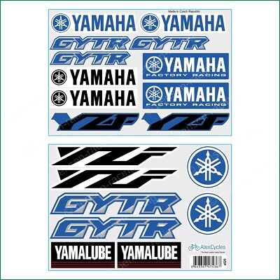YAMAHA Factory Racing Motorbike Motorcycle 19 Laminated Decals Sticker YZF GYTR