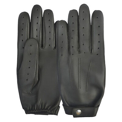 Real Leather Retro Driving Leather Glove Mens Womens Lined Super Vented QUALITY