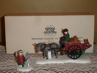 Dept 56 Dickens Village BRINGING FLEECES TO THE MILL 58190 RETIRED EUC