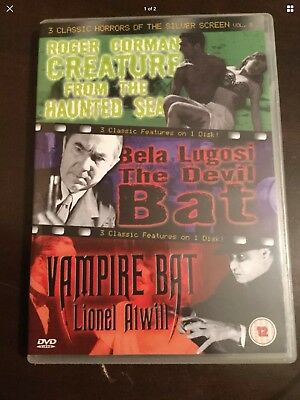 THE DEVIL BAT, VAMPIRE BAT & CREATURE FROM HAUNTED SEA New Unsealed DVD R All