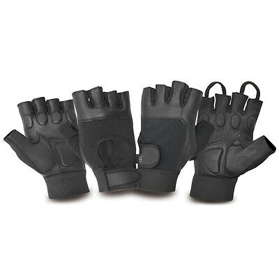 Mens Weight Lifting Gel Padded Gloves Gym Training Workout Fitness Bodybuilding