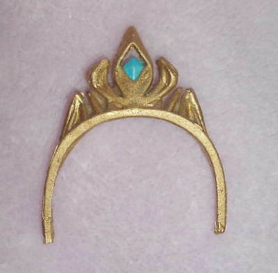 """FROZEN Queen ELSA 11"""" 1/6 DOLL CROWN TIARA Gold orcClear Resin NEW LE Handmade"""