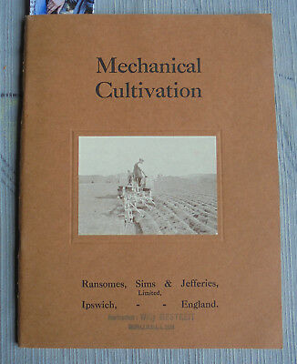 Catalog RANSOMES Mechanical Cultivation c1923 steam tractor implement 56 pages