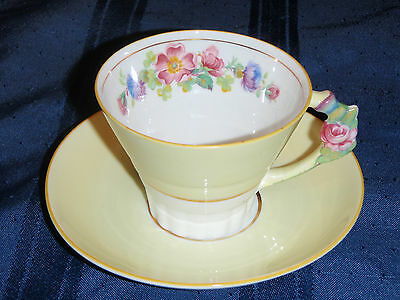 Paragon 1939 Commemorative Tea Cup and Saucer with Flower Handle