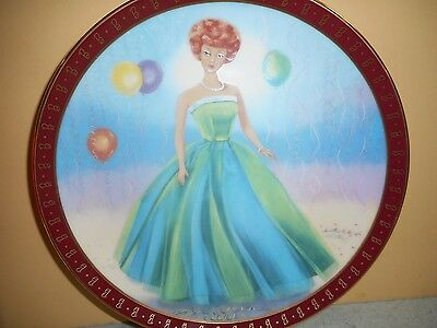 "The 1963 BARBIE ""Senior Prom"" High Fashion Barbie Plate #A299 with COA--1990"