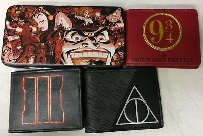 Lot of 4 NEW Wallets; Harry Potter, Call of Duty Black OPS 3, and Batman