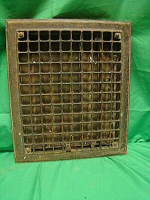 Vintage 1920S Iron Heating Grate Square Design 14 X 12 Nc