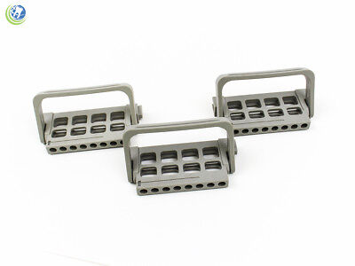 3X Dental Endo File Holder Block Caddy Root Canal W/ Ruler Grey Autoclavable
