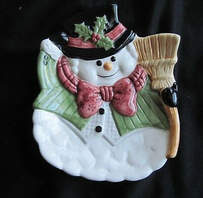 Fitz and Floyd Snowman Serving Tray