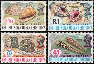 British Indian Ocean Territory #59-62 set MNH VF