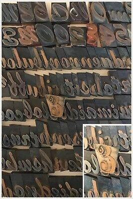 "150 Pieces Vintage Letterpress Printing Wood Type 1 5/8"" to 2 6/8"""