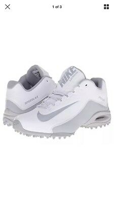 Nike Speedlax 5 Turf White Silver Lacrosse Shoes 897157-100 Women's Size 6 NWT
