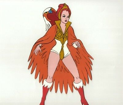 He-Man Masters of the Universe Animation Filmation Cel - Teela as Sorceress T3