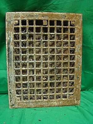 Vintage 1920S Iron Heating Grate Square Design 14 X 11 Hkj
