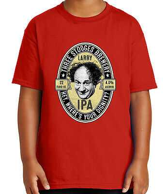 ace5cf42 Larry Ipa Kid's T-shirt Funny Fine Three Stooges Brewery Tee for Youth -  1911C