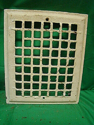 Vintage 1920's Iron Heating Grate Cover Square Design 11.75 X 9.75