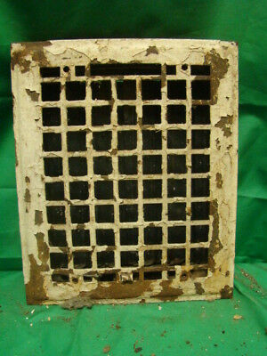 Vintage 1920S Iron Heating Grate Square Design 11.75 X 9.75 Dfh