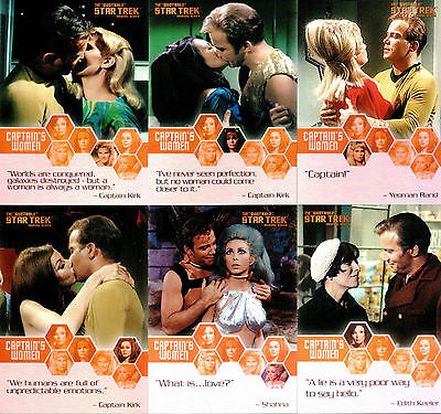 The Quotable Star Trek TOS Captain's Women Trading Card Set