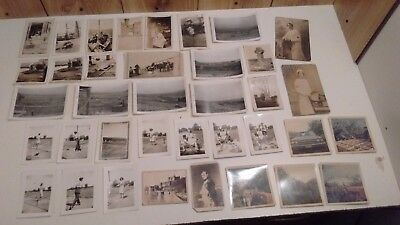 vintage original b&w photos lot of 39 farm, ocean, golf  1930's-50's, few color