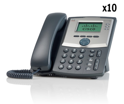 BRAND NEW Bundle of 10 Cisco SPA303-G2 IP Phone 3-line with Display and PC Port