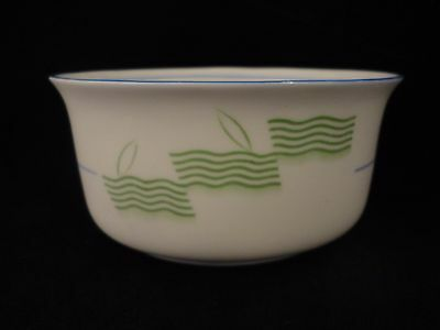 Royal Doulton Lido Pattern Sugar Bowl c1930's Green Blue Art Deco - With Faults