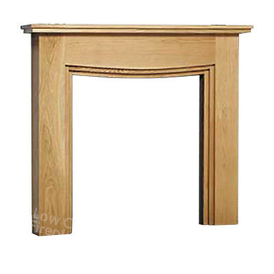 Solid Oak Electric Gas Fire Modern Fireplace Wood Mantel Mantle Surround Large