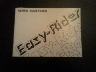Genuine Nvt Easy Rider Riders Handbook 1977