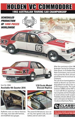 Classic 1/18 18583 Holden Commodore VC 1982 ATCC Peter Brock # 05 Free Shipping