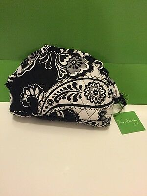 New With Tag Vera Bradley Travel Ruffle Cosmetic Bag In Midnight Paisley
