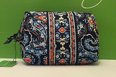 NWT Vera Bradley Travel LARGE Large Cosmetic Bag In Marrakesh
