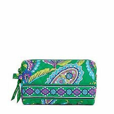 NWT Vera Bradley Travel SMALL Cosmetic Bag In Emerald Paisley