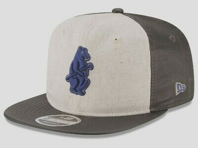 Chicago Cubs Mlb New Era 9Fifty Vintage Waxed Snapback Osfm 2-Tone Hat/Cap Nwt