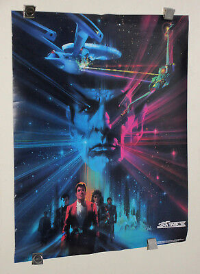 1984 Star Trek III The Search for Spock 28 1/2 by 22 1/2 inch movie poster:1980s