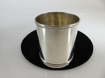 Quintard Brothers American Coin Silver Mint Julep Cup, Poughkeepsie NY, c1870s