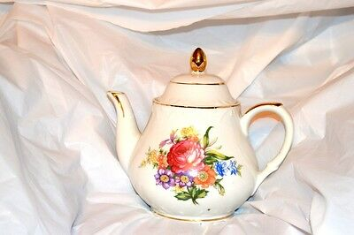 Vintage Chelsea Tea Pot With Roses R8069 Japan