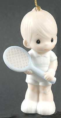 """Precious Moments Ornament """"serve With A Smile"""" Tennis  #102431 * Free Shipping *"""