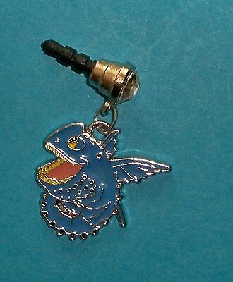Cell Phone Anti Dust Plug Cover Rhinestone Dangle Charm How to Train Your Dragon