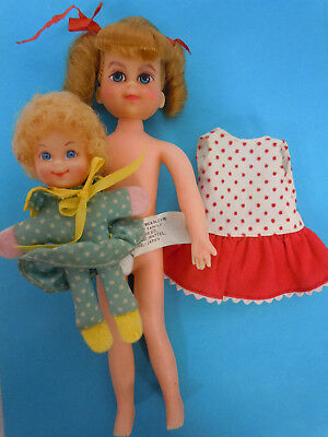 Buffy and Mrs Beasley Vintage Dolls from Family Affair TV Show Mattel 1960s 6""