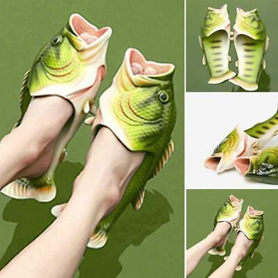 Unisex Fish Shower Slippers Beach Summer Shoes Sandals Bling Flip Flops JA