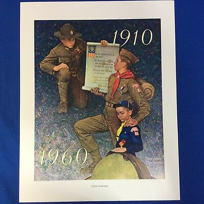 "Norman Rockwell Boy Scout Print 11""x14"" Ever Onward"