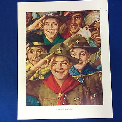 "Norman Rockwell Boy Scout Print 11""x14"" An Army Of Friendship"