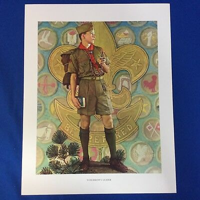 "Norman Rockwell Boy Scout Print 11""x14"" Tomorrow's Leader"
