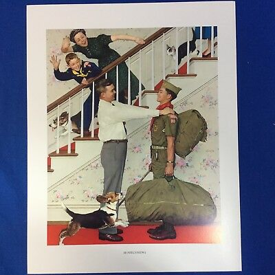 "Norman Rockwell Boy Scout Print 11""x14"" Homecoming"