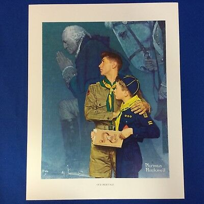 "Norman Rockwell Boy Scout Print 11""x14"" Our Heritage"